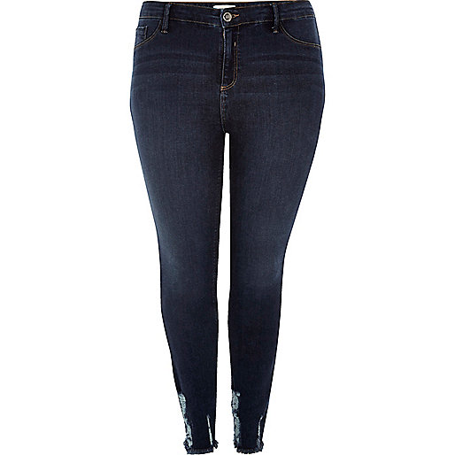 RI Plus – Amelie –  Superskinny Jeans in dunkler Waschung