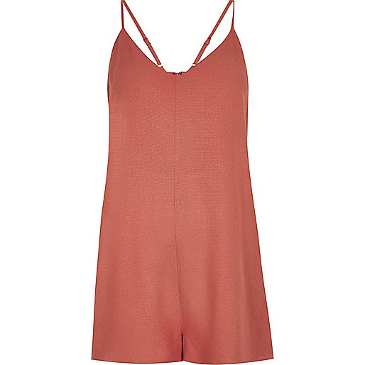 Rust minimal cami playsuit
