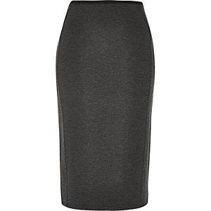 Dark grey smart ponte pencil skirt