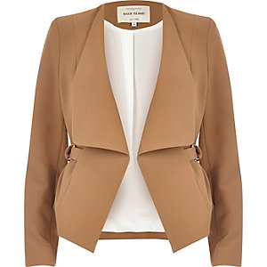 Tan open blazer