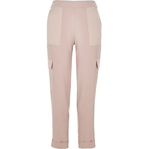 Light pink combat pants