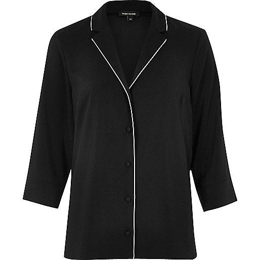 Black pajama shirt