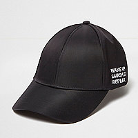 Black 'smash it' slogan cap
