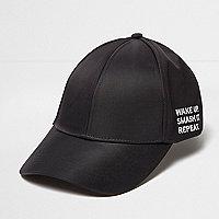 Casquette noire à slogan « smash it »