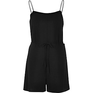 Black minimal cami playsuit