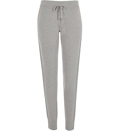 Pantalon de jogging gris à cordon