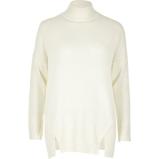 Cream knit circle back jumper