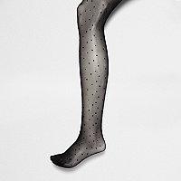 Black polka dot tights