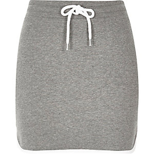 Grey sweat mini skirt