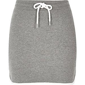 Mini-jupe en molleton grise