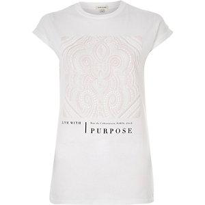 White puff print t-shirt