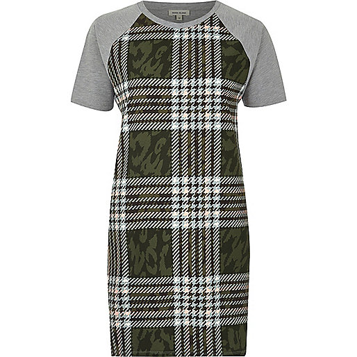 Khaki checked tunic