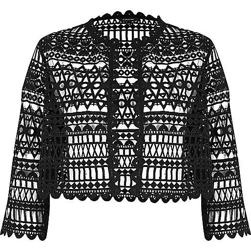 Black lace bolero jacket