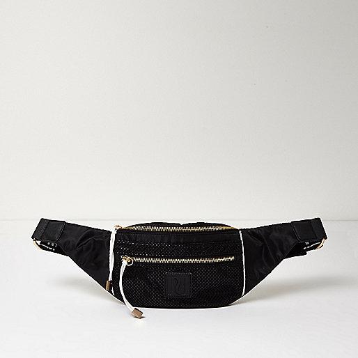 RI Active black mesh mono bum bag