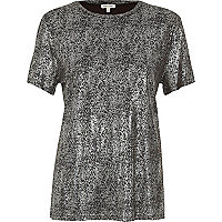 T-shirt métallisé argenté