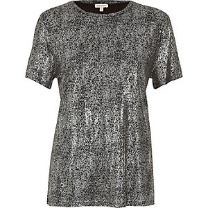 Silver metallic T-shirt