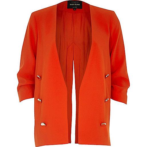 Red split back military blazer