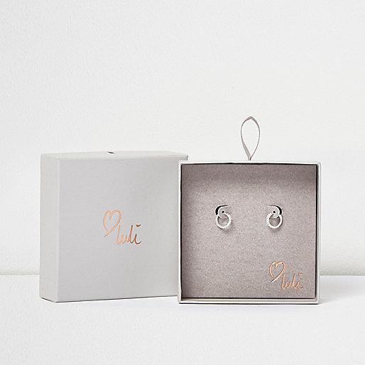 Love Luli silver-plated hoop earrings