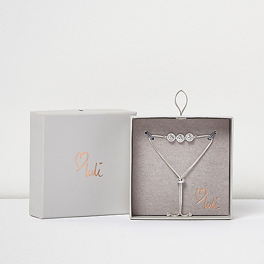 Love Luli – Versilbertes Y-Armband mit Ziersteinchen