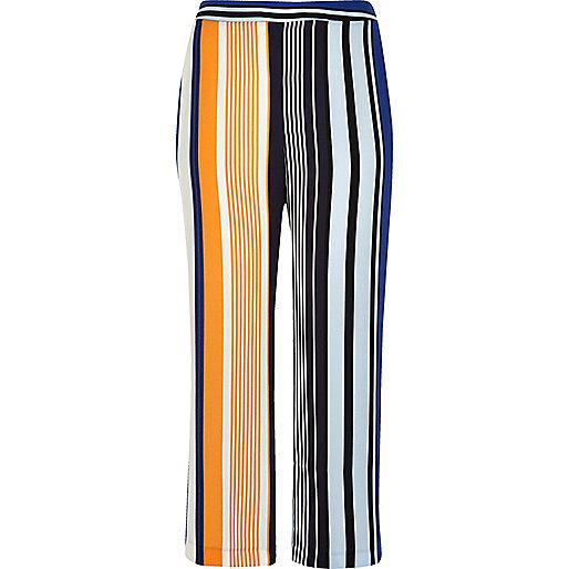 RI Plus blue stripe palazzo trousers