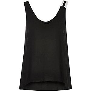 Black sporty strap vest