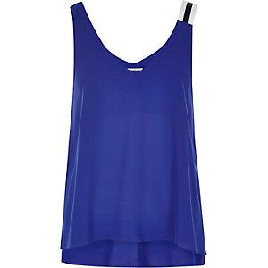 Blue sporty strap vest