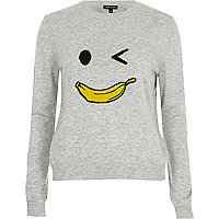 Grey knit banana man jumper