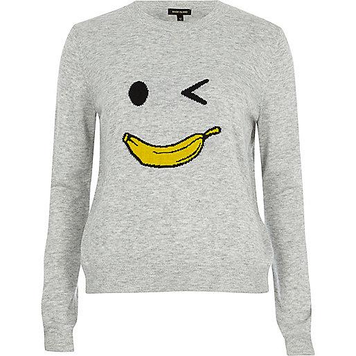 Grey knit banana man jumper