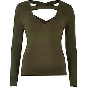 Khaki strappy top