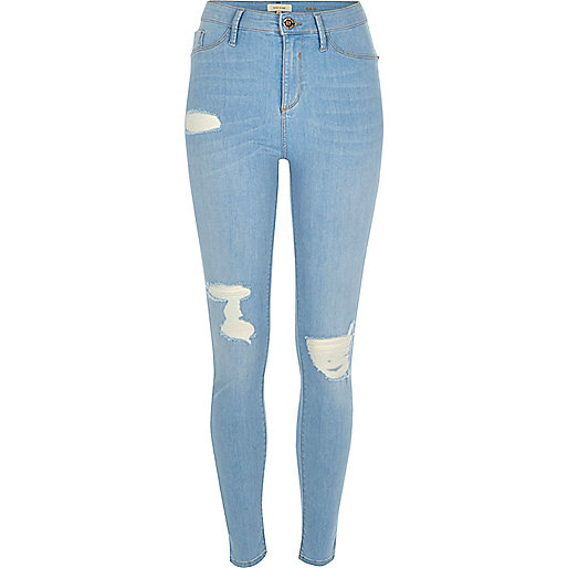 Jegging Molly bleu intense déchiré