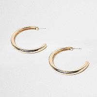 Gold tone chunky hoop earrings