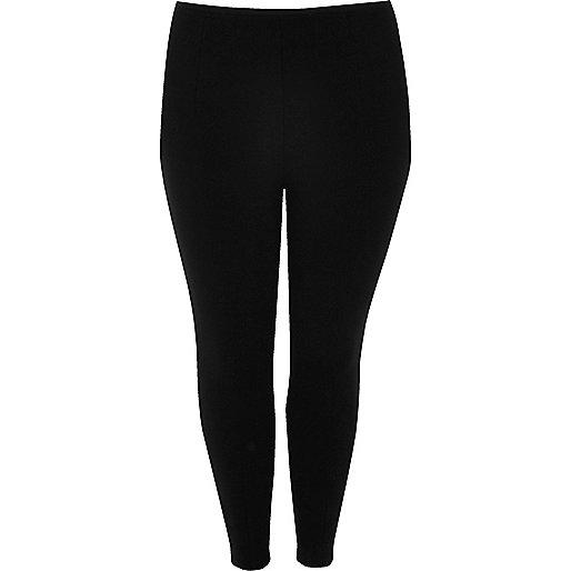 Plus black pintuck leggings
