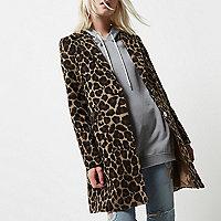 Manteau Petite imprimé léopard