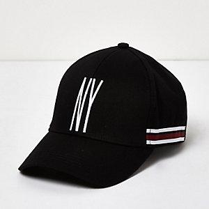 Black stripe 'NY' cap
