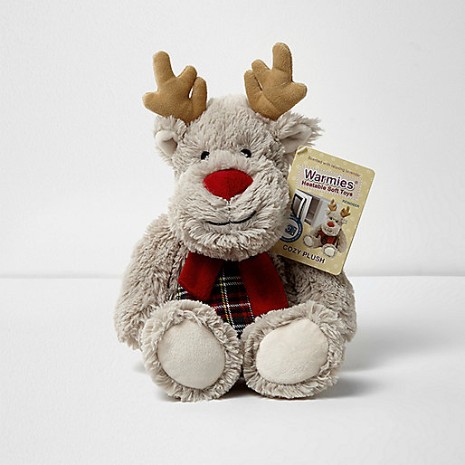 Reindeer hottie heatable soft toy