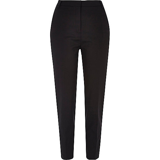 Black slim tapered smart trousers