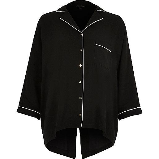 Chemise de pyjama noire