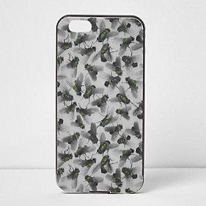 Grey Design Forum fly print iPhone 6 case