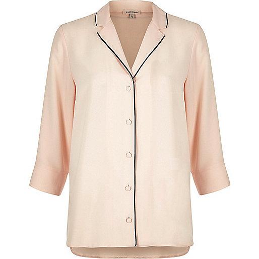 Light pink pyjama shirt