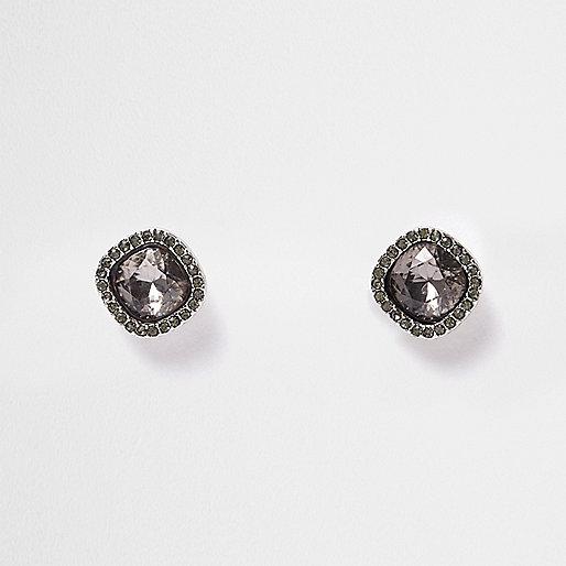 Ohrstecker mit Kristallen in Silber