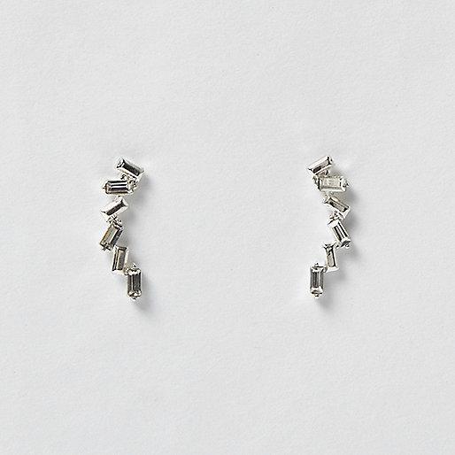 Steinchen-Earcuff in Silber