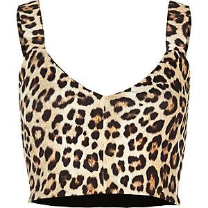 Brown leopard print bralet
