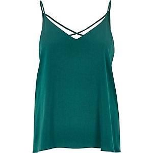 Green strappy cami