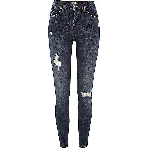 Dark wash ripped Amelie super skinny jeans