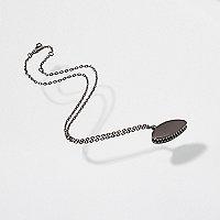 Gunmetal Design Forum fly trap chain necklace