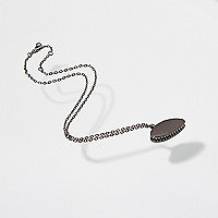 Gunmetal Design Forum fly trap chain necklace