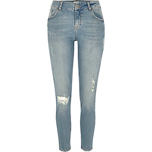Alannah – Legere Skinny Jeans in hellblauer Waschung