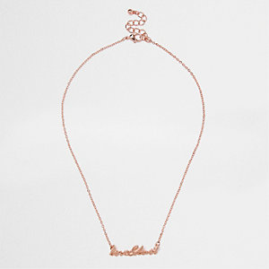 Rose gold tone 'Love & Lust' necklace