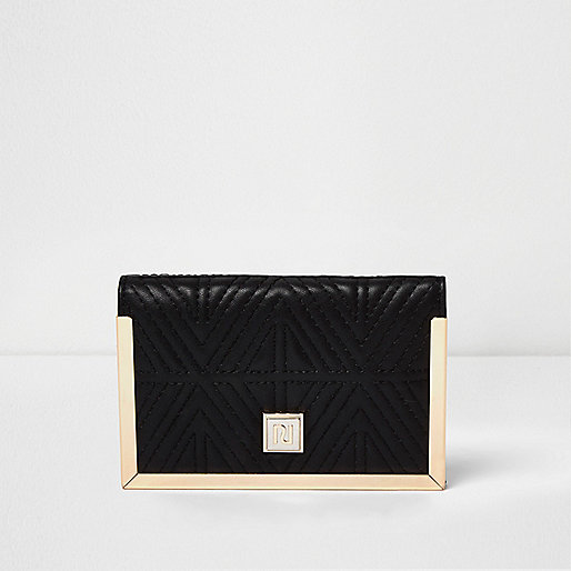 Black quilted passport holder
