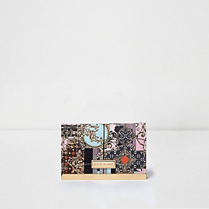 Pink scarf print travelcard holder